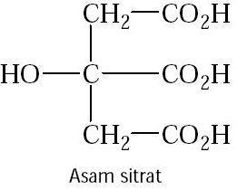 Pengertian Asam Sitrat dan Rumus Kimia Asam Sitrat
