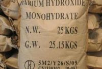Pengertian Barium Hidroksida dan Rumus Kimia Barium Hidroksida