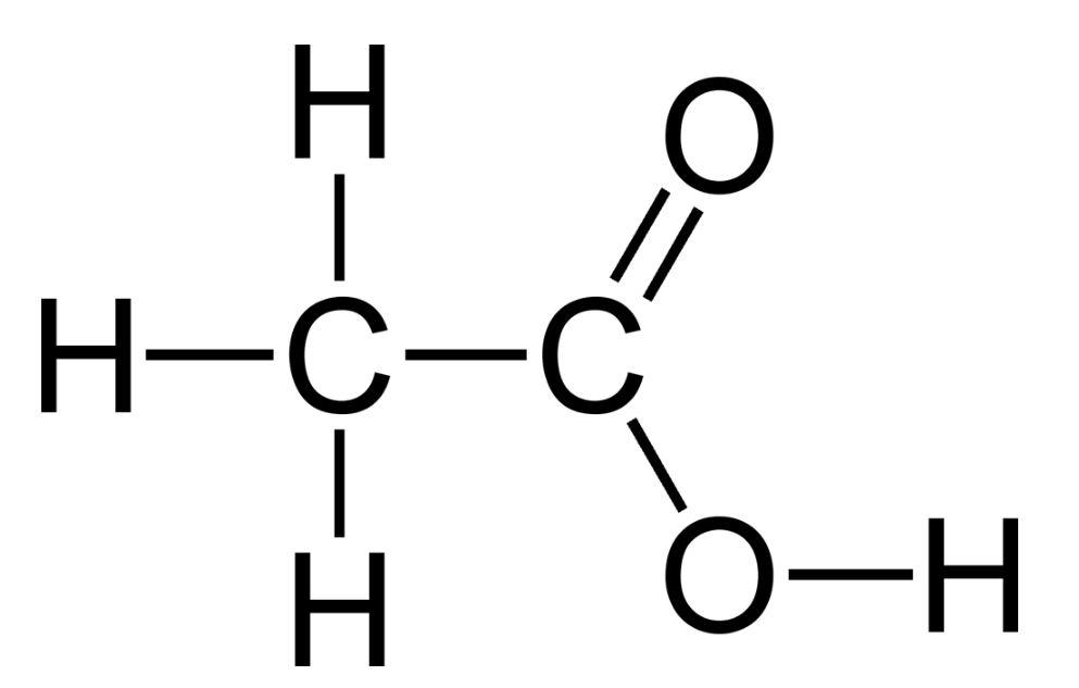 Pengertian asam asetat dan rumus kimia asam asetat