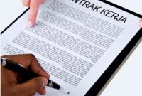 Contoh dan Cara Membuat Surat Perjanjian Kerja
