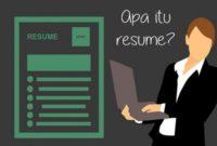 Pengertian, Jenis dan Contoh Resume Karangan