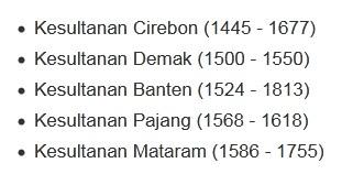 Kerajaan Islam di Jawa - Sejarah Nusantara Pada Era Kerajaan Islam