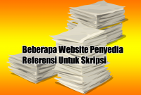 Beberapa Website Penyedia Referensi Untuk Skripsi