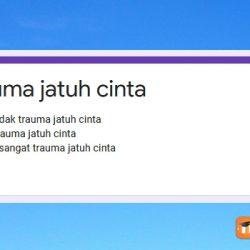 Link Ujian Trauma Jatuh Cinta Docs Google Form