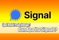 Apakah Signal Menjadi Pesaing WhatsApp ? dan Apa itu Signal ?