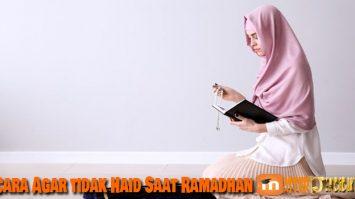 Cara Agar tidak Haid Saat Ramadhan