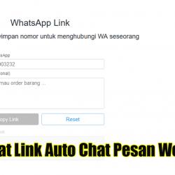Membuat Link Auto Chat Pesan Welcome